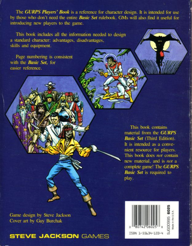 GURPS Players' Book (Back)