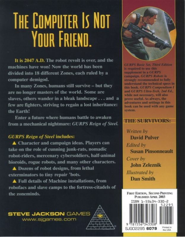 GURPS Reign of Steel (Back)