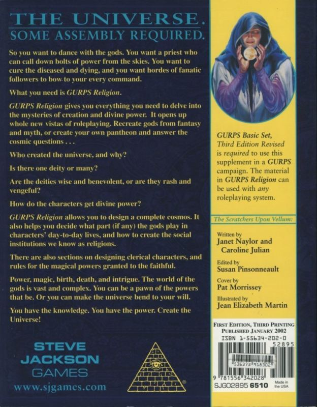 GURPS Religion (Back)