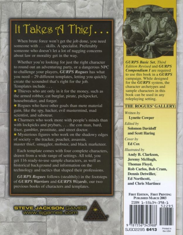 GURPS Rogues (Back)