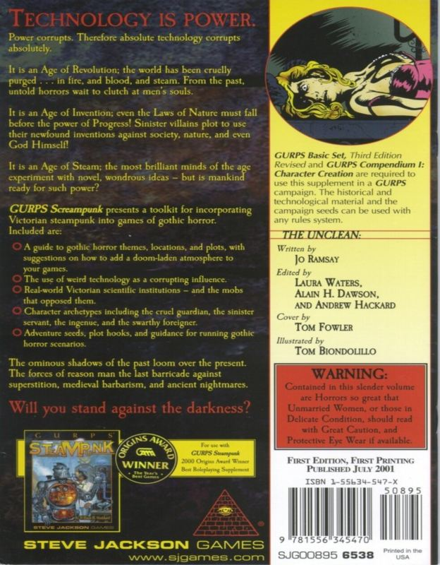GURPS ScreamPunk (Back)