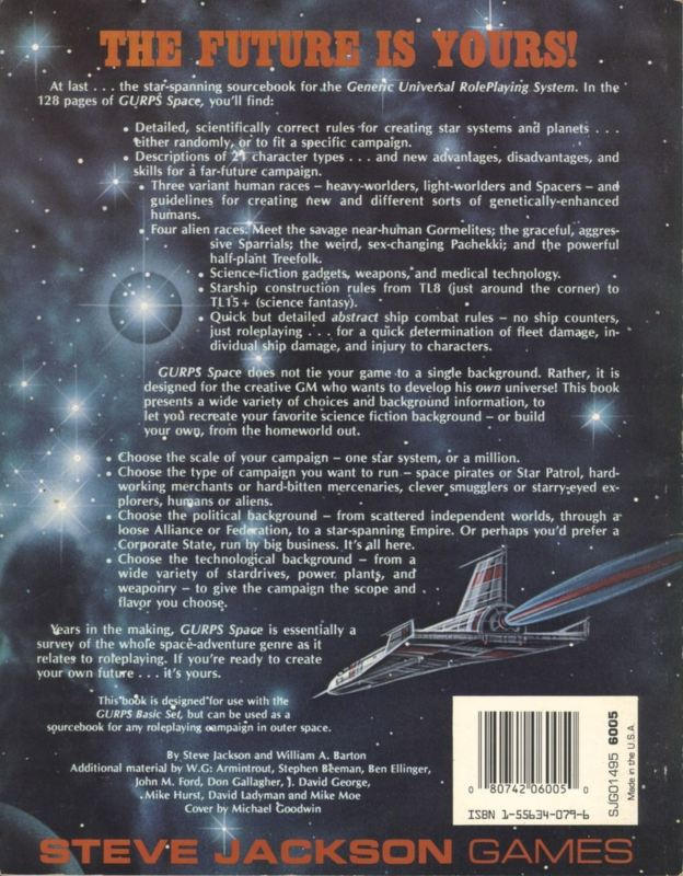 GURPS Space, First Edition (Back)