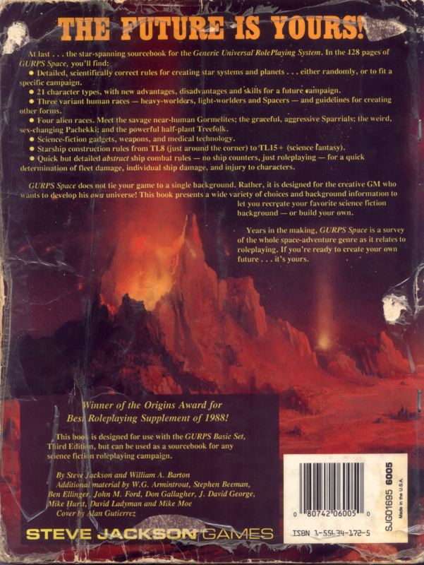 GURPS Space, Second Edition (Back)