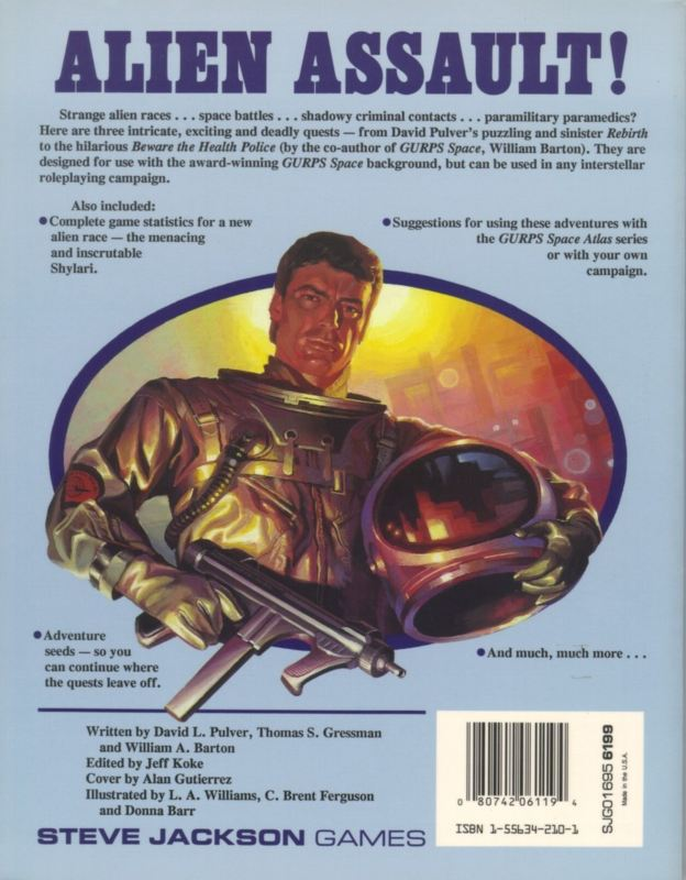 GURPS Space Adventures (Back)