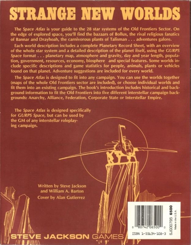 GURPS Space Atlas (Back)