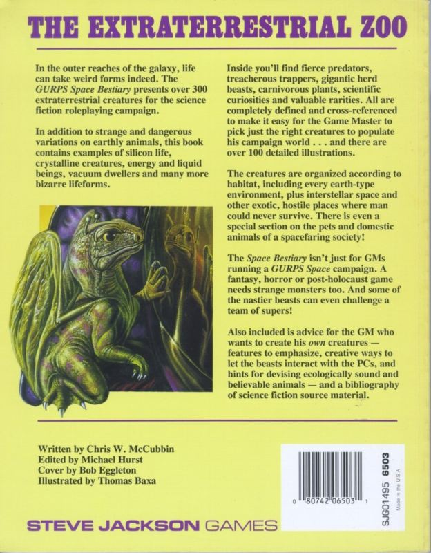 GURPS Space Bestiary (Back)