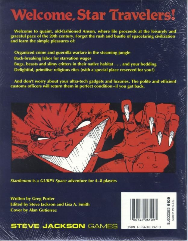 GURPS Space: Stardemon (Back)
