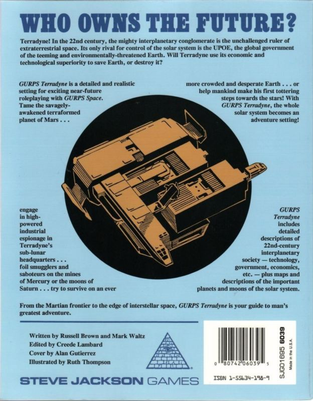 GURPS Space: Terradyne (Back)