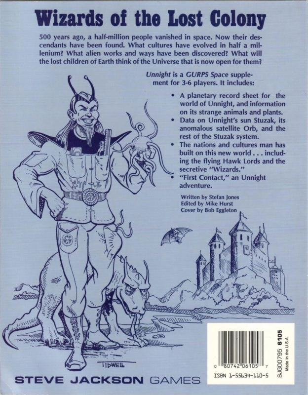 GURPS Space: Unnight (Back)