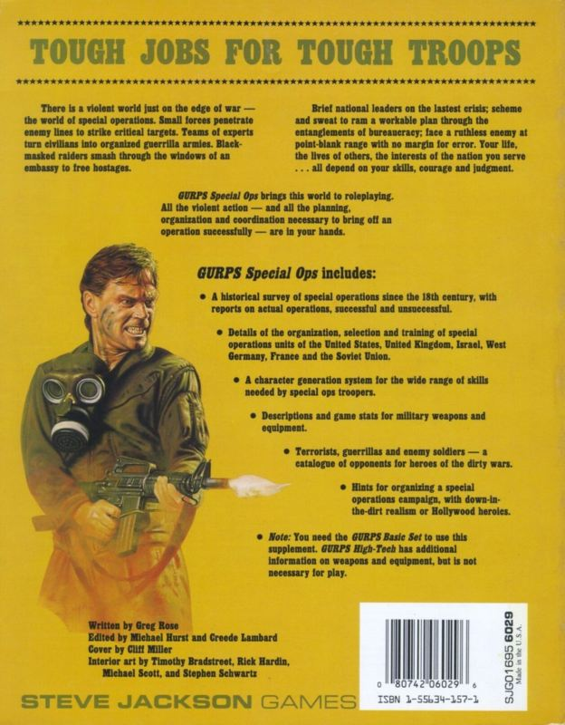 GURPS Special Ops, First Edition (Back)