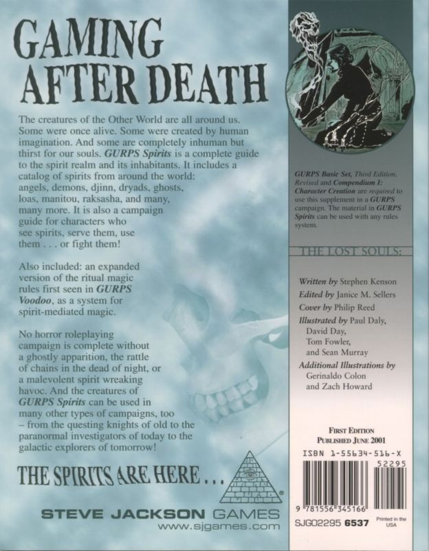 GURPS Spirits (Back)