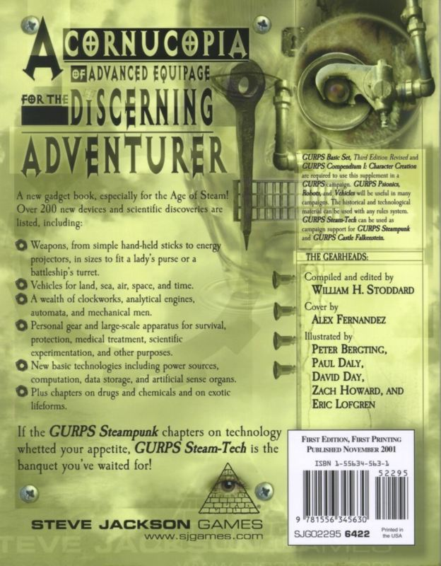 GURPS Steam-Tech (Back)