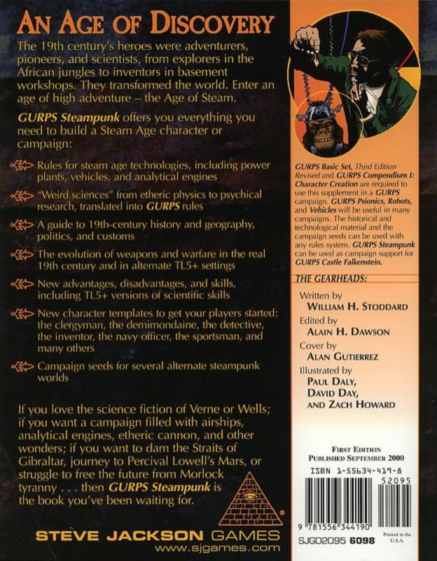 GURPS Steampunk (Back)