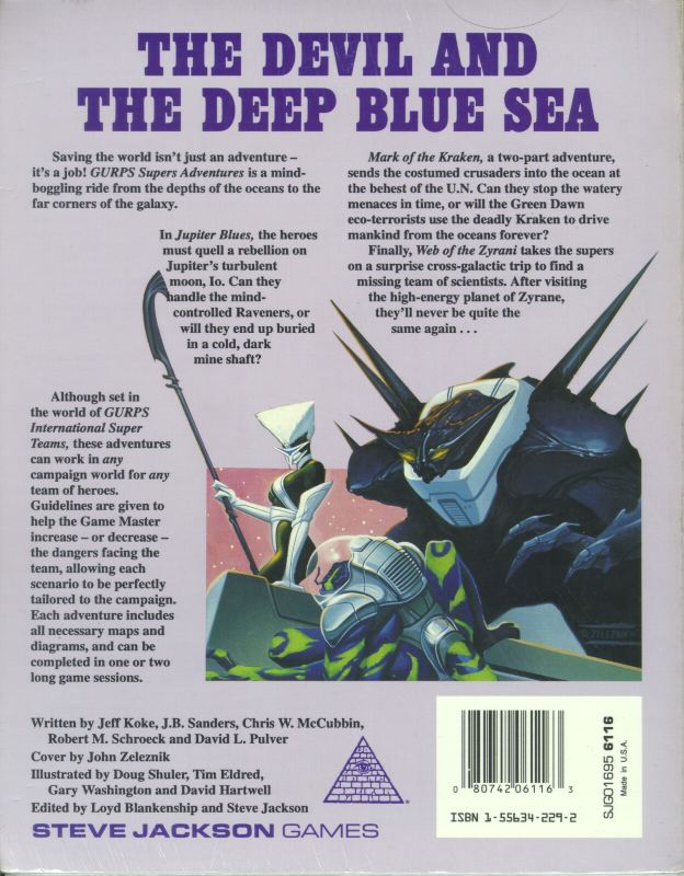 GURPS Supers Adventures (Back)