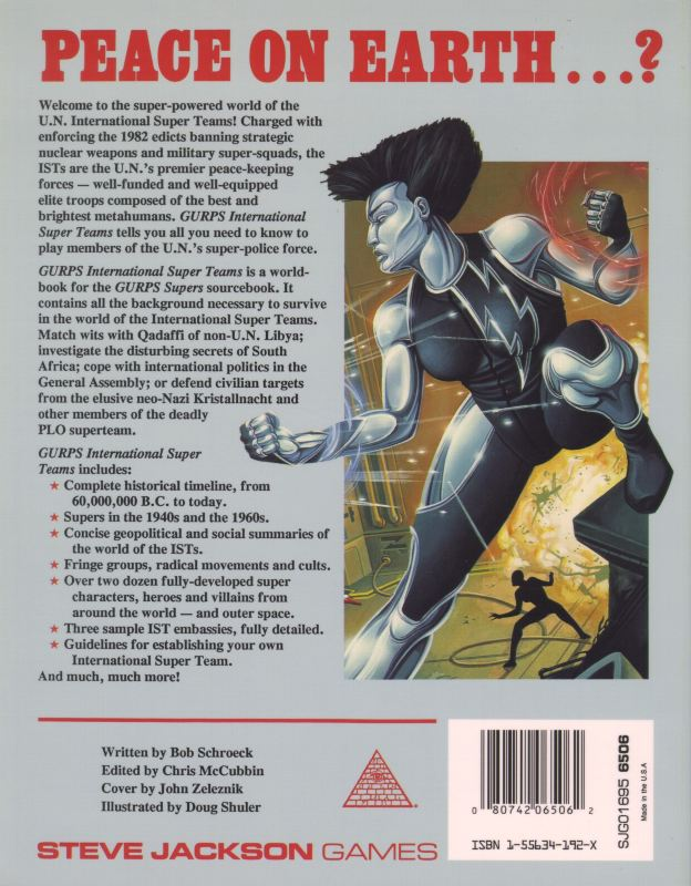 GURPS Supers International Super Teams (Back)