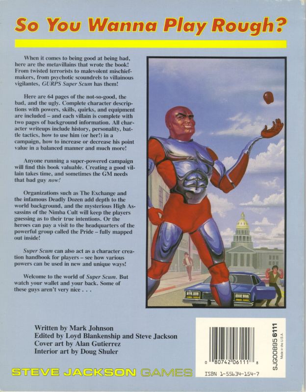 GURPS Super Scum (Back)