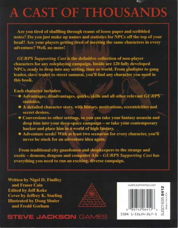 GURPS Supporting Cast (Back)