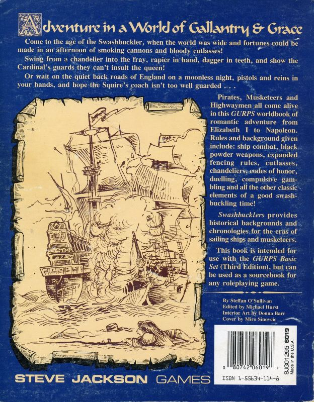 GURPS Swashbucklers, Second Edition (Back)