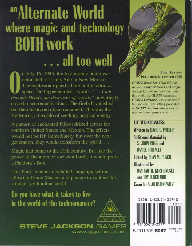 GURPS Technomancer (Back)