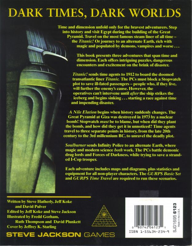 GURPS Time Travel Adventures (Back)