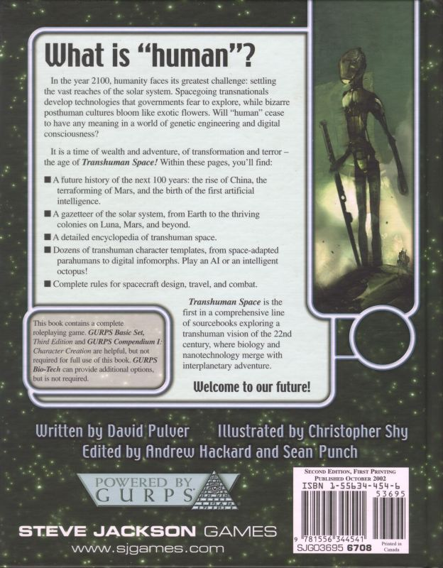 GURPS Transhuman Space (Back)