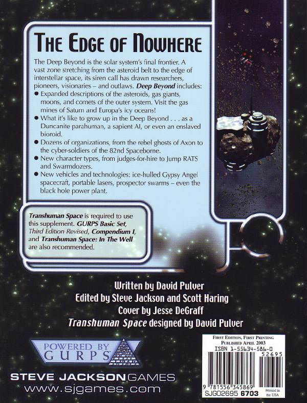 GURPS Transhuman Space: Deep Beyond (Back)