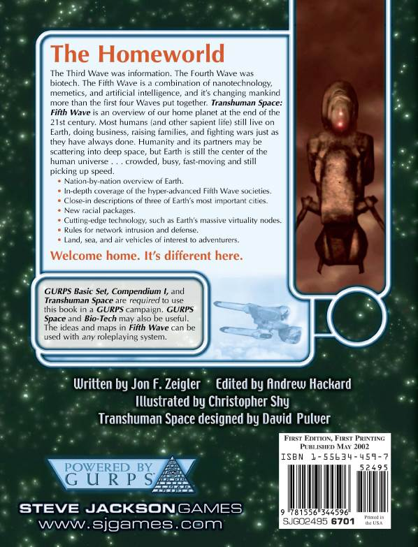 GURPS Transhuman Space: Fifth Wave (Back)