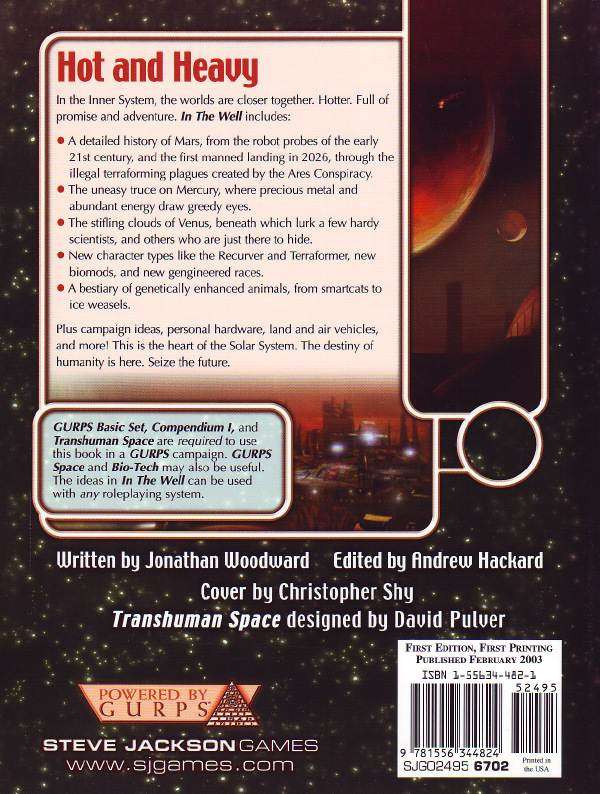 GURPS Transhuman Space: In the Well (Back)
