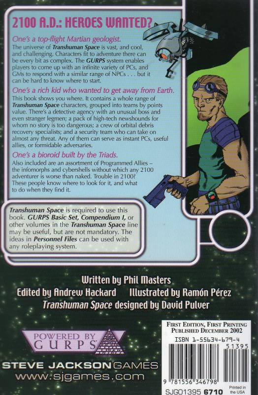 GURPS Transhuman Space: Personnel Files (Back)