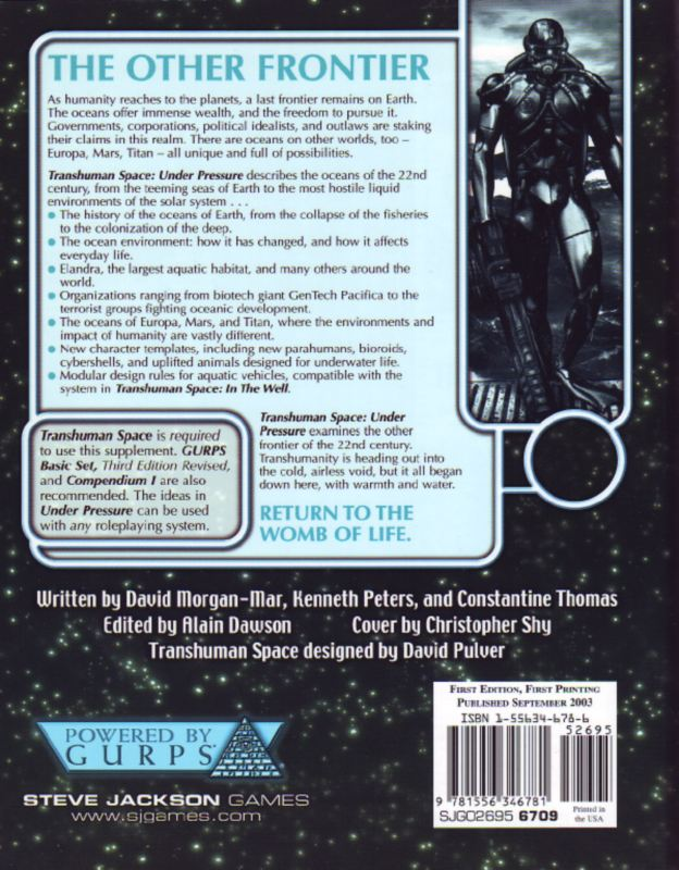 GURPS Transhuman Space: Under Pressure (Back)