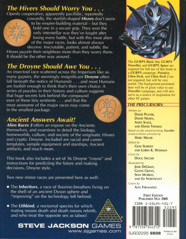 GURPS Traveller: Alien Races 3 (Back)