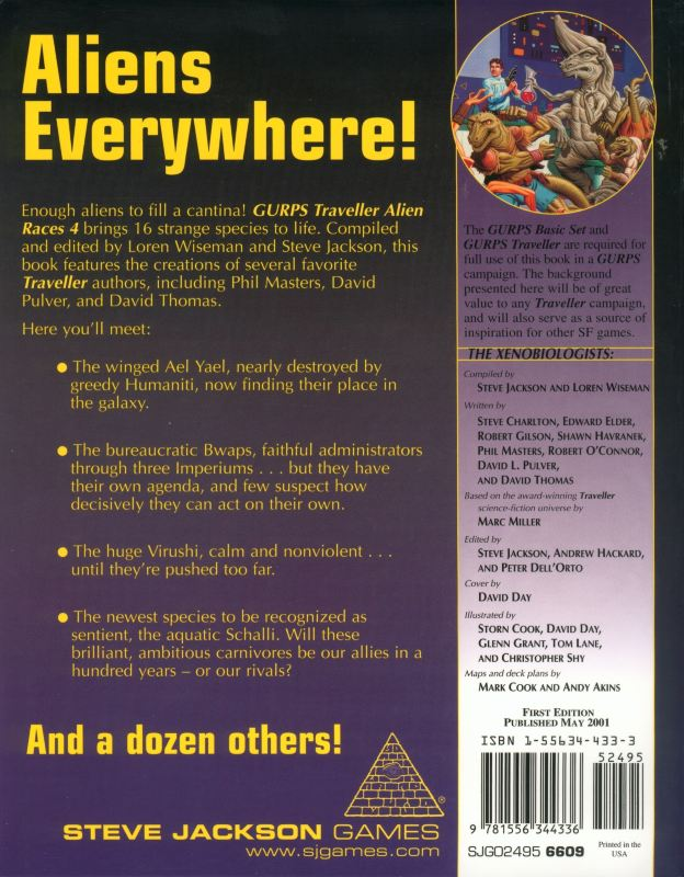 GURPS Traveller: Alien Races 4 (Back)