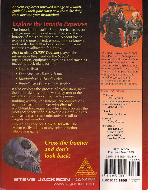 GURPS Traveller: First In (Back)