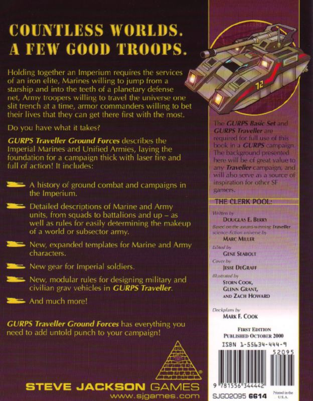 GURPS Traveller: Ground Forces (Back)