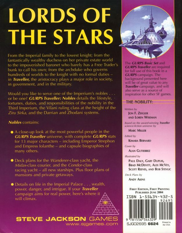 GURPS Traveller: Nobles (Back)