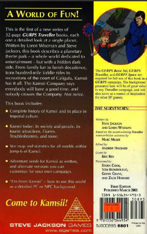 GURPS Traveller: Planetary Survey 1 – Kamsii (Back)