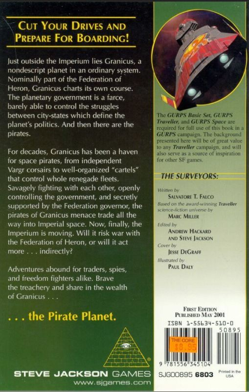 GURPS Traveller: Planetary Survey 3 – Granicus (Back)