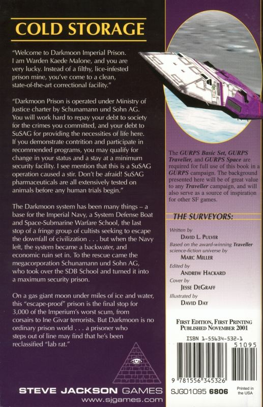 GURPS Traveller: Planetary Survey 6 – Darkmoon (Back)