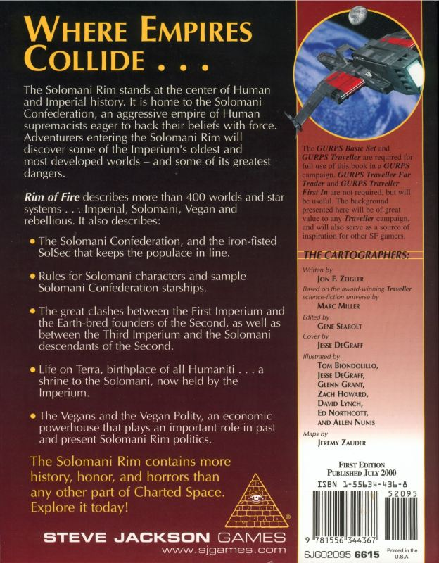 GURPS Traveller: Rim of Fire (Back)