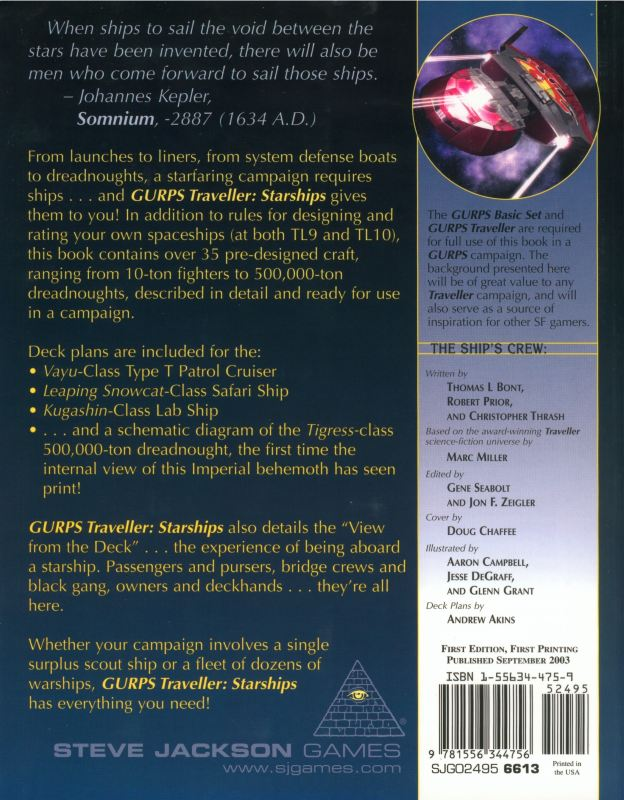 GURPS Traveller: Starships (Back)