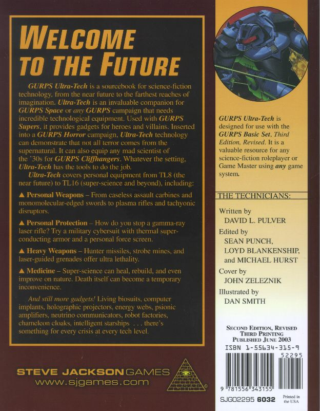 GURPS Ultra-Tech, Second Edition Revised (Back)