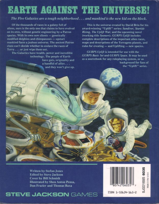 GURPS Uplift, First Edition (Back)