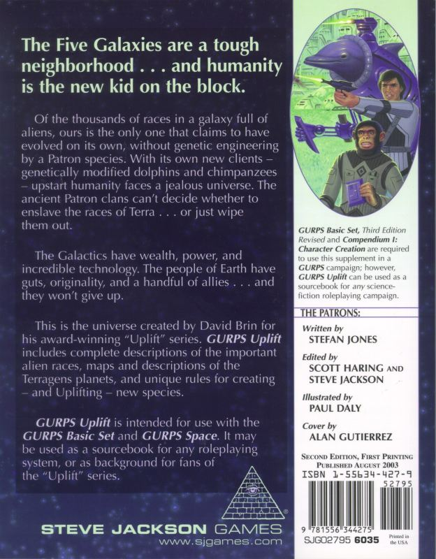 GURPS Uplift, Second Edition (Back)