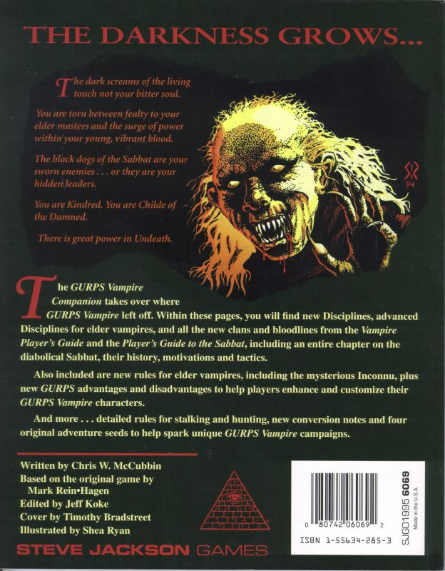 GURPS Vampire: The Masquerade (Back)