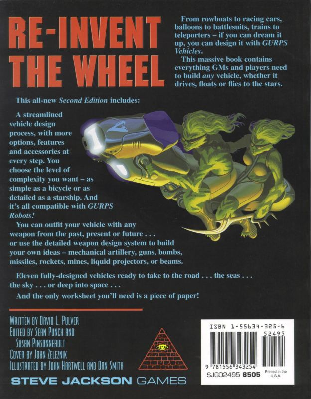 GURPS Vehicles, Second Edition (Back)