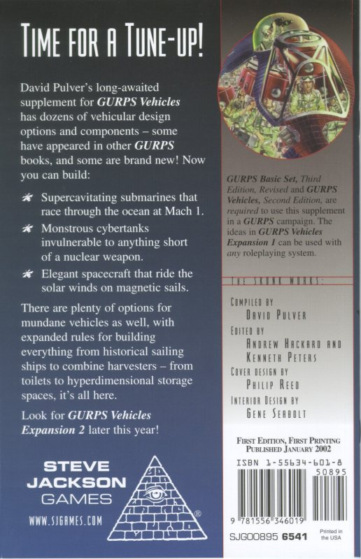 GURPS Vehicles Expansion 1 (Back)