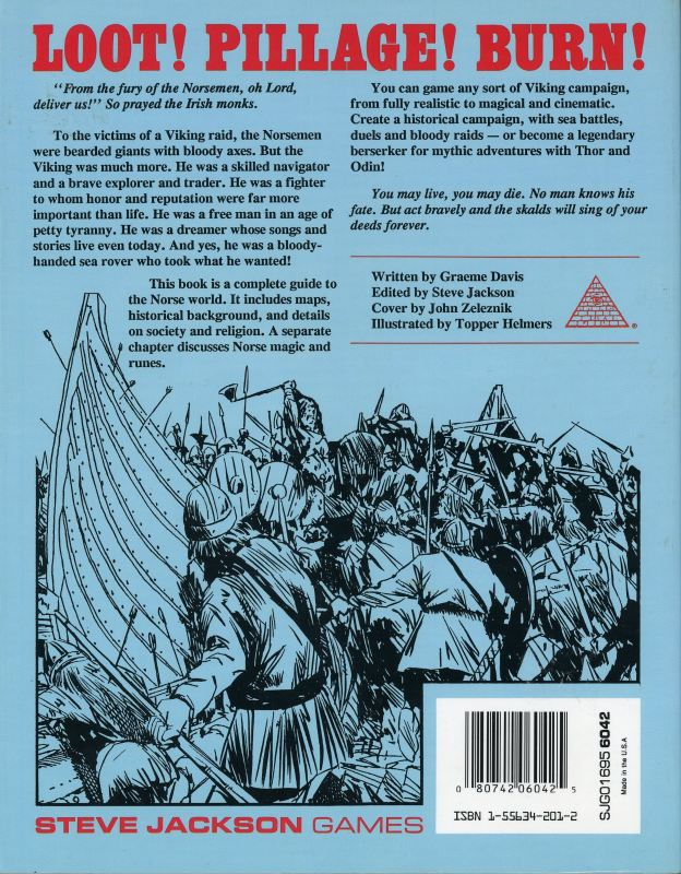 GURPS Vikings, First Edition (Back)