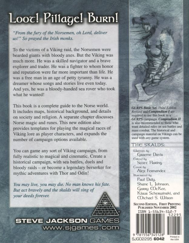 GURPS Vikings, Second Edition (Back)
