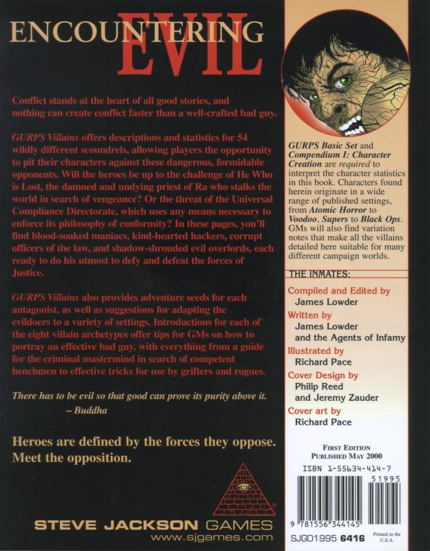 GURPS Villains (Back)