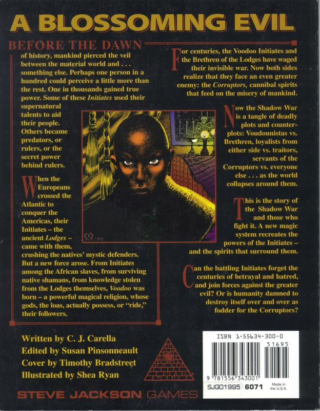 GURPS Voodoo: The Shadow War (Back)